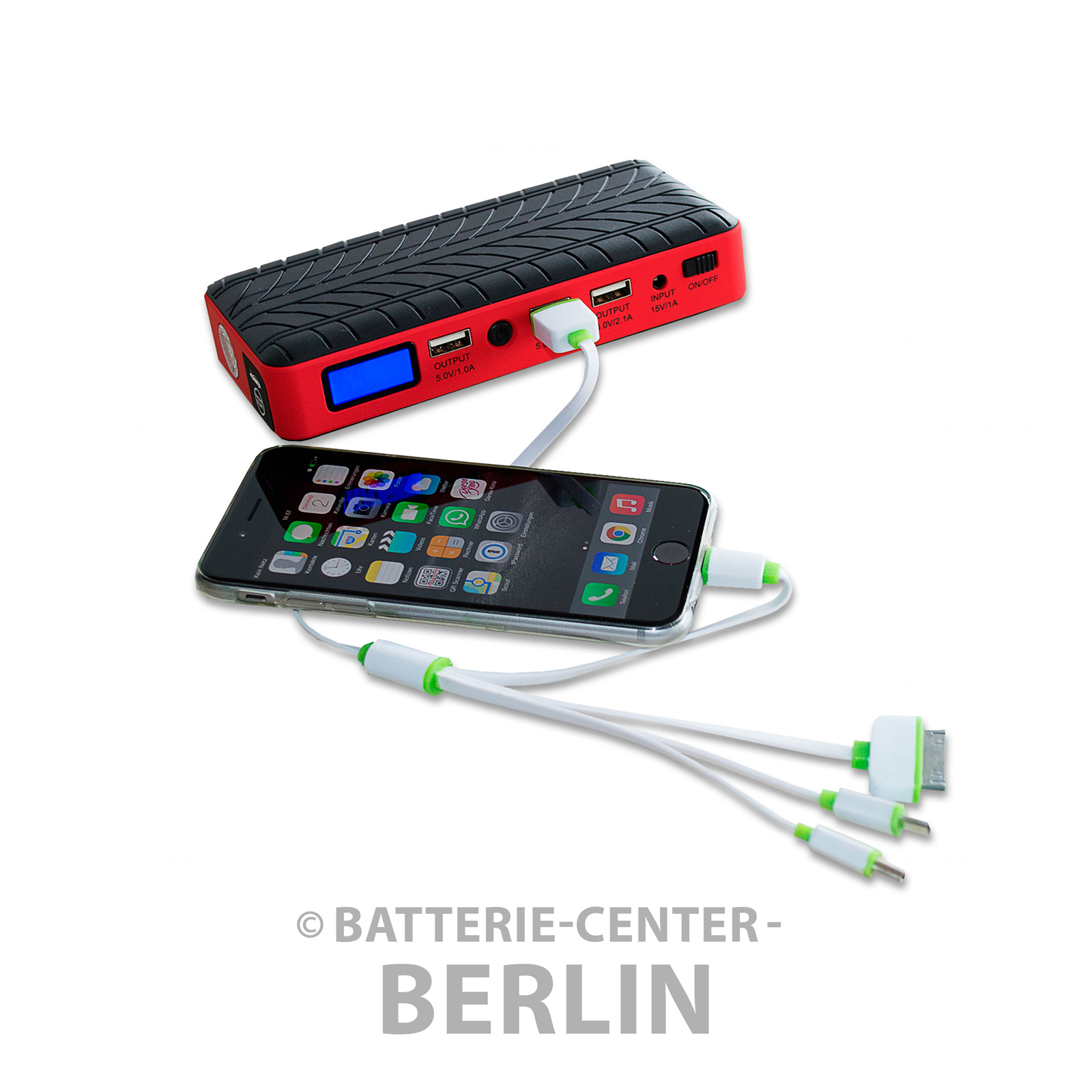 12 v jumpstarter powerbank auto batterie ladeger t mit display kfz. Black Bedroom Furniture Sets. Home Design Ideas